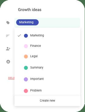 async meetings labels